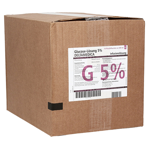 GLUCOSE 5% DELTAMEDICA Infusionslösung Plastikfl. 10x500 Milliliter N2