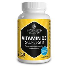 VITAMIN D3 1.000 I.E. daily vegetarisch Tabletten 200 Stück