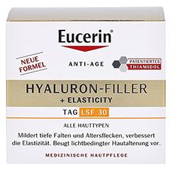 EUCERIN Anti-Age HYALURON-FILLER+Elasticity LSF 30 + gratis Eucerin X-mas Geschenkbox inkl. 7-Tage Serum-Kur 50 Milliliter - Vorderseite