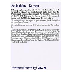 Acidophilus Kapseln 60 Stück - Rückseite