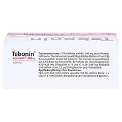 Tebonin konzent 240mg 120 Stück N3 - Oberseite