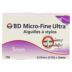BD MICRO-FINE ULTRA Pen-Nadeln 0,25x5 mm 100 Stück - Vorderseite