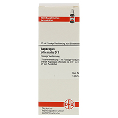 ASPARAGUS OFFICINALIS D 1 Dilution 50 Milliliter N1 - Vorderseite