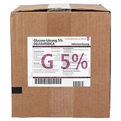 GLUCOSE 5% DELTAMEDICA Infusionslösung Plastikfl. 10x500 Milliliter N2 - Vorderseite