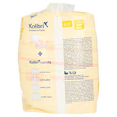 KOLIBRI compact soft Vorlagen anatomisch extra 20 Stück - Linke Seite