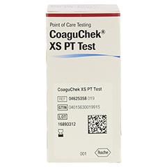 COAGUCHEK XS PT Test 24 Stück - Linke Seite