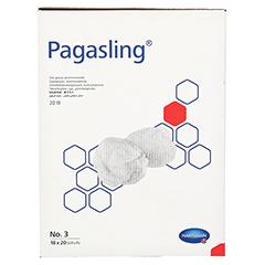 PAGASLING Mulltupfer steril Gr.3 pflaumengroß 18x20 Stück - Rechte Seite