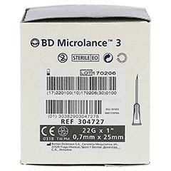 BD MICROLANCE Kanüle 22 G 1 0,7x25 mm 100 Stück - Rechte Seite