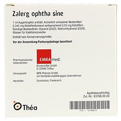 Zalerg ophtha sine 0,25mg/ml Augentropfen 20 Stück N2 - Rückseite