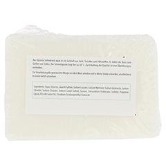 GLYCERINSEIFENBLOCK opak 100 Gramm - Rückseite