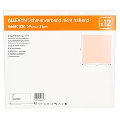 ALLEVYN Schaumverband 19x21 cm nicht haftend 12 Stück - Rückseite