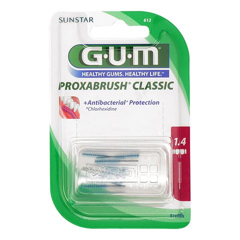 GUM Proxabrush Ersatzbürsten 0,7 mm Kerze 8 Stück