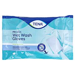 TENA WET Wash Glove parfümiert 15x23 cm blau 8 Stück