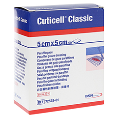 CUTICELL Classic Wundgaze 5x5 cm 50 Stück