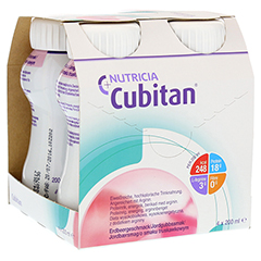 CUBITAN Erdbeergeschmack Trinkflasche 4x200 Milliliter