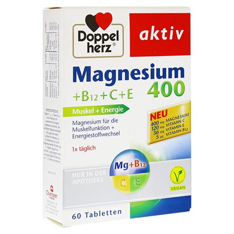 DOPPELHERZ Magnesium 400+B12+C+E Tabletten 60 Stück