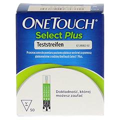 ONETOUCH SelectPlus Blutzucker Teststreifen 50 Stück - Vorderseite