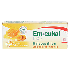 EM EUKAL PRO Halspastillen Lindenblütenhonig 30 Stück - Vorderseite