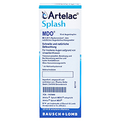 ARTELAC Splash MDO Augentropfen 1x10 Milliliter - Vorderseite