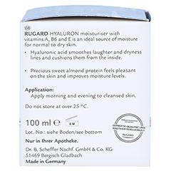 RUGARD Hyaluron Feuchtigkeitspflege 100 Milliliter - Linke Seite