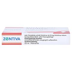 Diclofenac Zentiva 25mg 10 Stück - Unterseite