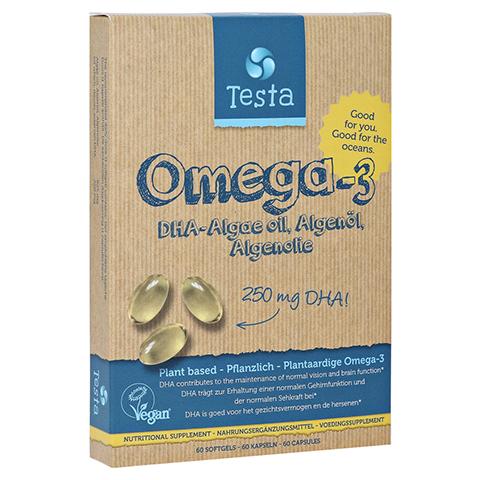 TESTA OMEGA-3 250 mg DHA Kapseln 60 Stück