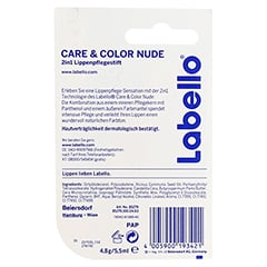 LABELLO care & color nude 4.8 Gramm - Rückseite