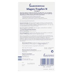 KLOSTERFRAU Magen-Tropfen N 50 Milliliter - Rückseite