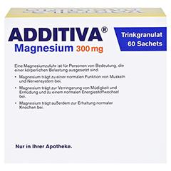ADDITIVA Magnesium 300 mg N Pulver 60 Stück - Rückseite