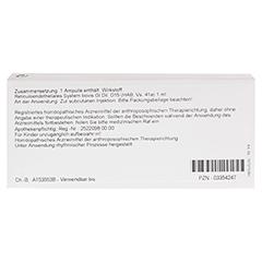 RETICULOENDOTHELIALES System GL D 15 Ampullen 10x1 Milliliter N1 - Rückseite
