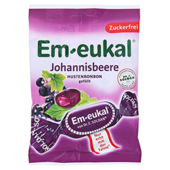 Em-eukal Bonbons Johannisbeere gefüllt zuckerfrei 75 Gramm