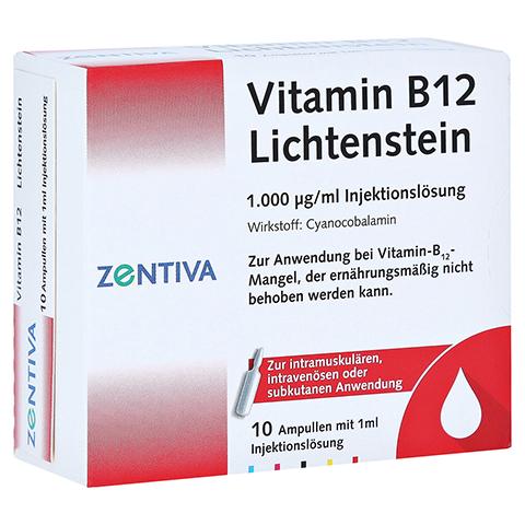 Vitamin B12 1.000 µg Lichtenstein Ampullen 10x1 Milliliter N2