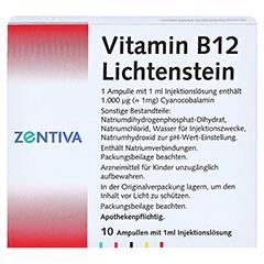 Vitamin B12 1.000 µg Lichtenstein Ampullen 10x1 Milliliter N2 - Rückseite