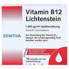 Vitamin B12 1.000 µg Lichtenstein Ampullen 10x1 Milliliter N2 - Vorderseite