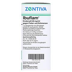 Ibuflam Kindersaft 20mg/ml gegen Fieber und Schmerzen 100 Milliliter N1 - Rechte Seite