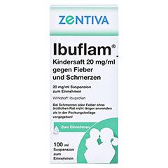 Ibuflam Kindersaft 20mg/ml gegen Fieber und Schmerzen 100 Milliliter N1 - Rückseite