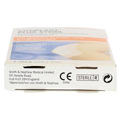 CUTIPLAST Plus steril 5x7 cm Verband 5 Stück - Unterseite