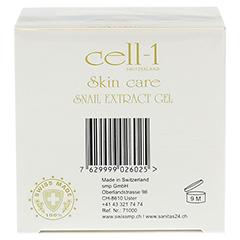 CELL-1 Gesichtspflege mit Schnecken-Extrakt Gel 50 Milliliter - Unterseite
