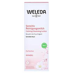 WELEDA Mandel Sensitiv Reinigungsmilch 75 Milliliter - Vorderseite