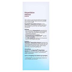 Bepanthol Intensiv Körperlotion Flasche 200 Milliliter - Rückseite