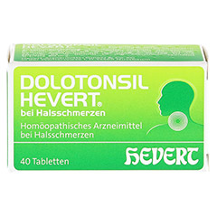 DOLOTONSIL Hevert bei Halsschmerzen Tabletten 40 Stück N1 - Vorderseite