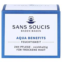 SANS SOUCIS MOISTURE Aqua Benefits 24h Pflege für trockene Haut 50 Milliliter - Vorderseite