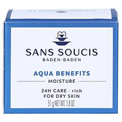 SANS SOUCIS MOISTURE Aqua Benefits 24h Pflege für trockene Haut 50 Milliliter - Rückseite