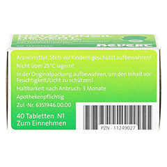 DOLOTONSIL Hevert bei Halsschmerzen Tabletten 40 Stück N1 - Unterseite