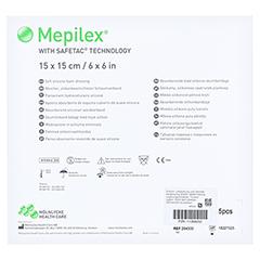 MEPILEX 15x15 cm Schaumverband 5 Stück - Rückseite