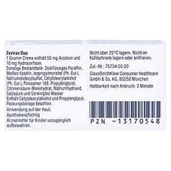 Zovirax Duo 50mg/g / 10mg/g 2 Gramm - Rückseite