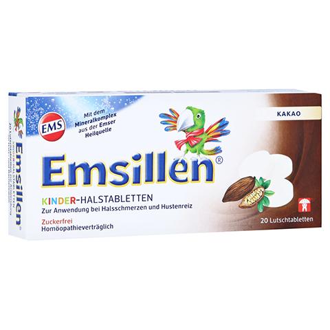 EMSILLEN Kinder-Halstabletten Kakao 20 Stück