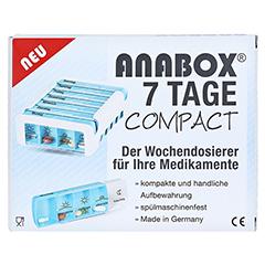 ANABOX Compact 7 Tage Wochendosierer blau/weiß 1 Stück - Vorderseite