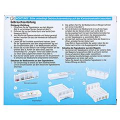 ANABOX Compact 7 Tage Wochendosierer blau/weiß 1 Stück - Rückseite