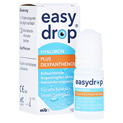 Easydrop Hyaluron + Dexpanthenol Augentropfen 10 Milliliter
